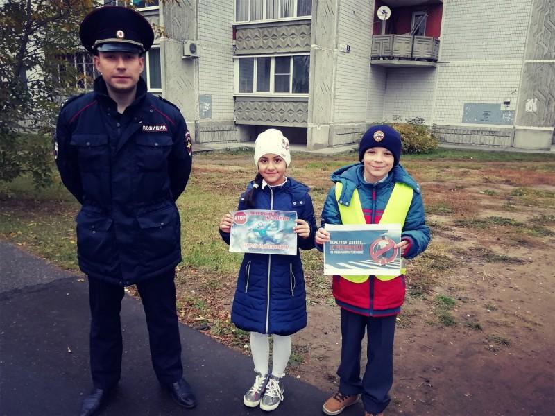 Тверские школьники и сотрудники Госавтоинспекции провели мероприятие «Безопасный гаджет»