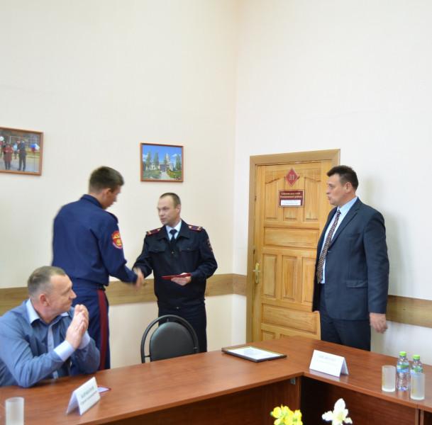 В Тверской области полицейские вручили удостоверения членам народной дружины