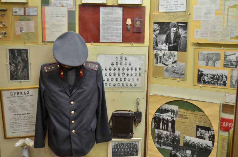 Тверские школьники побывали в музейной экспозиции Управления МВД России по Тверской области