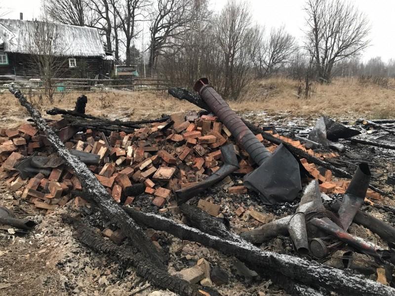 В Тверской области сотрудники полиции задержали подозреваемого в умышленном поджоге жилого дома