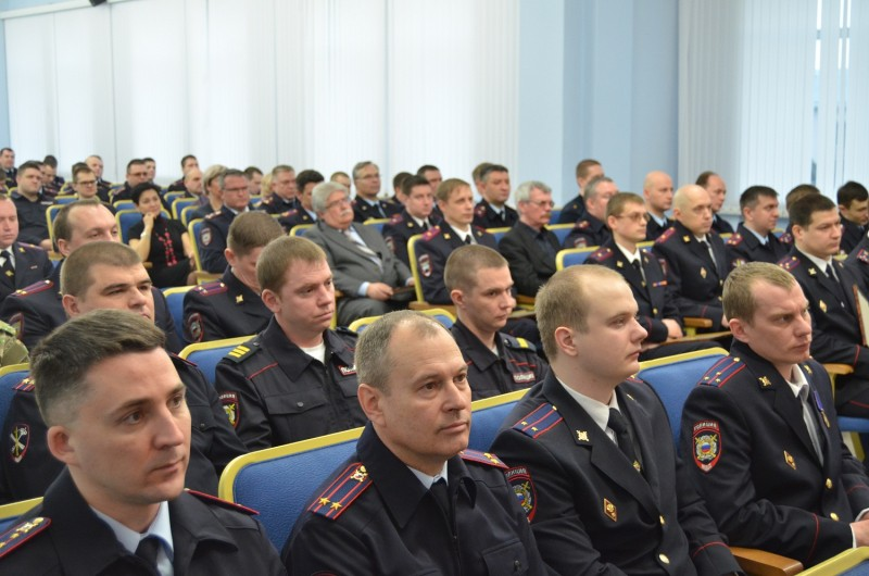Начальник УМВД поздравил личный состав с Днем защитника Отечества