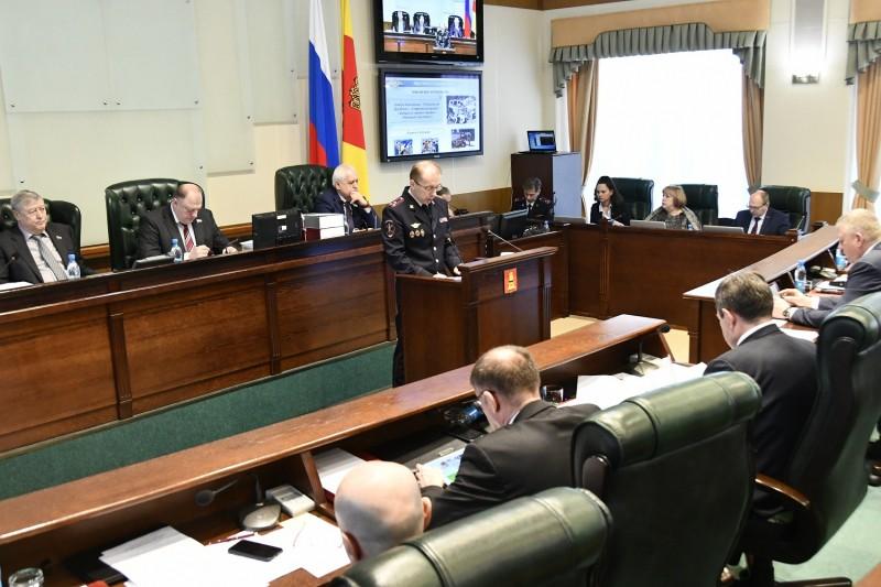Начальник тверского УМВД выступил с отчетом перед Законодательным Собранием региона