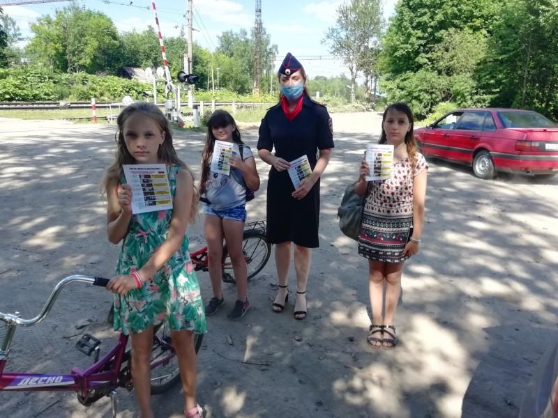 Автоинспекторы по Бологовскому району провели акцию «Безопасные каникулы»