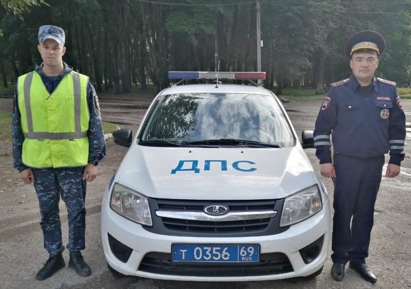 Жительница Московской области выразила благодарность тверским инспекторам дорожно-патрульной службы