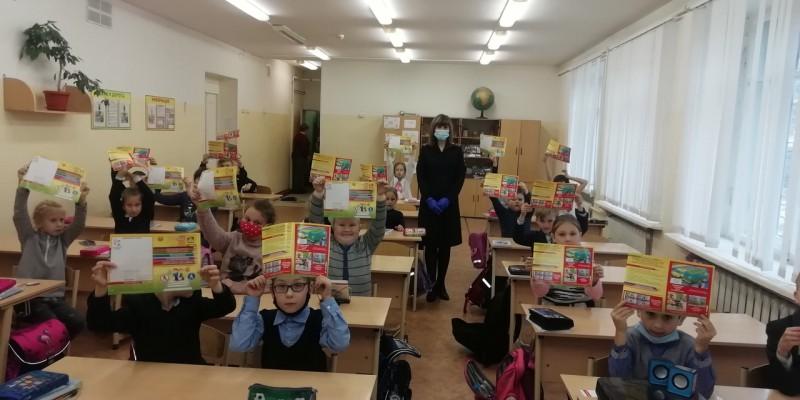 Сотрудники Госавтоинспекции города Твери провели уроки безопасности для школьников