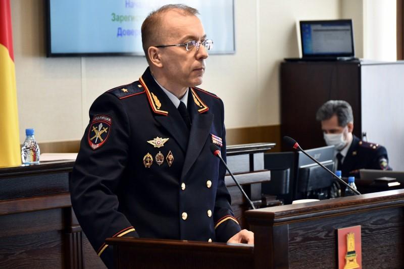 Начальник УМВД России по Тверской области информировал депутатский корпус о состоянии правопорядка в регионе