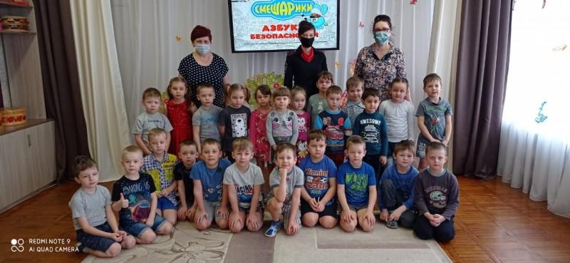 Воспитанники нелидовского детского сада «Сказка» побывали в «Стране правил дорожного движения»
